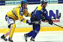 Ústečtí hokejisté (modří) v přípravě porazili Lausitzer Füchse 5:2.