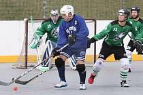 HBC Coma team (modří) - Wolves Chomutov (zelení), I. OHBL 2019/2020