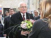 Václav Klaus při návštěvě v Ústí nad Labem.