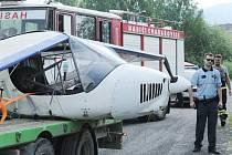 V úterý se zřítilo ultralehké letadlo v Úžině u Ústí nad Labem v blízkosti letiště.