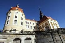 Zámek Moritzburg u Drážďan.