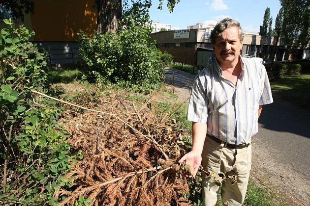 Špatně provedený úklid kritizuje i ústecký zastupitel Jaroslav Kubín, který ve čtvrti Skřivánek bydlí.