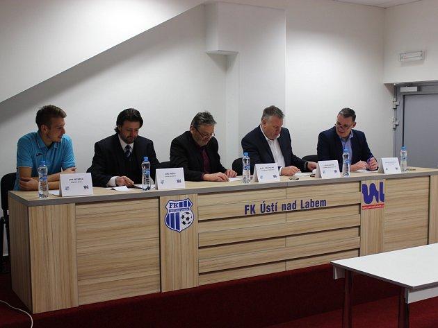 Tisková konference FK Ústí před jarní sezonou.