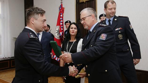 Předávání medailí za věrnost policistům z Územního odboru Ústí nad Labem