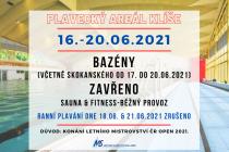 Letní mistrovství ČR uzavře Plavecký areál na Klíši.
