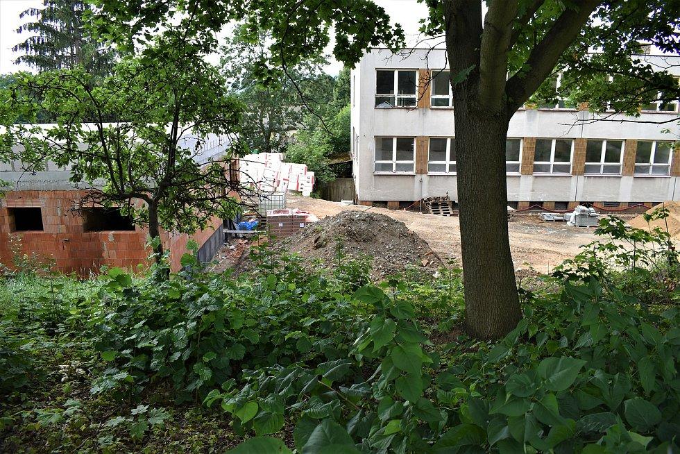 V areálu bývalé školy zatím probíhají jen menší stavební práce.