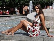 Angelika Kostyshynová reprezentuje Ústecký kraj ve finále soutěže Miss léta.