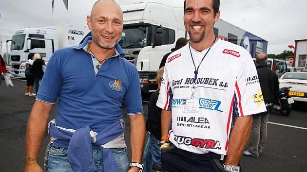 Daniel Landa s manažerem Buggyry Janem Kalivodou.