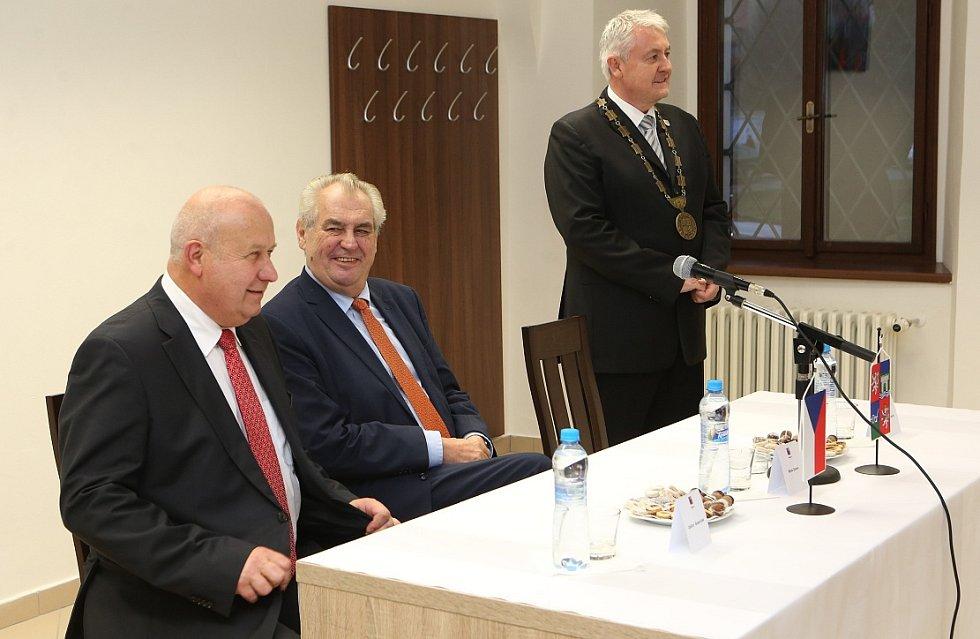 Prezident Zeman na návštěvě Ústeckého kraje.