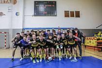 Futsalisté Rapidu Ústí nad Labem po historicky první výhře v nejvyšší soutěži.