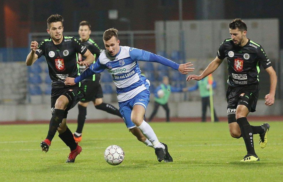 Fotbalový zápas mezi Armou Ústí nad Labem a Hradcem Králové