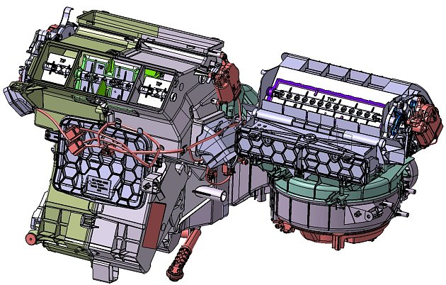 3D model klimatizační jednotky