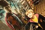Ústecké kino Hraniřář promítá další dlouhoočekávaný díl kouzelnického učně Harryho Pottera. Na promítání někteří diváci přišli stylově oblečení v kouzelnickém oděvu a maskách. Jedním z nich byl i Ústečan jakub Kepič (na snímku)