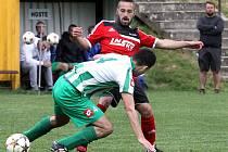 Fotbalisté Brné (vzadu Georgiev) se těší na krajský přebor.