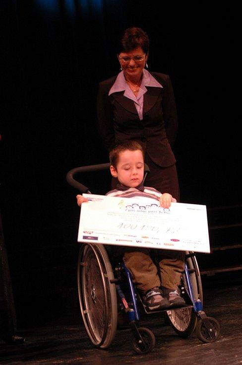Výtěžek benefičního koncertu Zpívám pro Tebe bude použit na nový elektrický vozík pro postiženého ústeckého školáka Matěje Říhu.