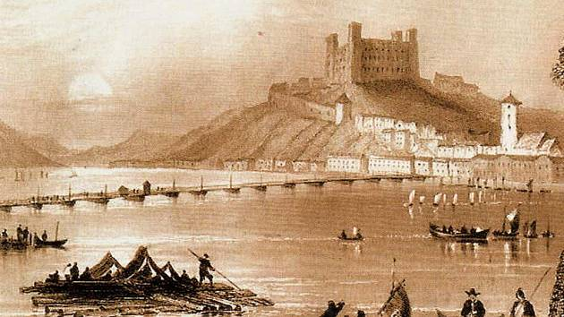 Bratislava (dříve Prešpurk) na počátku 19. století.