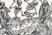Knižní ilustrace ze Světové kroniky, pocházející z Norimberka roku 1491 . Vystihuje pohled středověkého a raně novověkého člověka na příčinu morové rány.