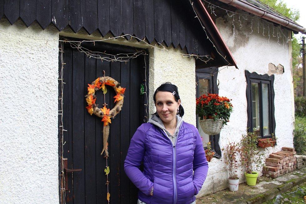 Irena Stehlíková v Krásném Lese u Petrovic.