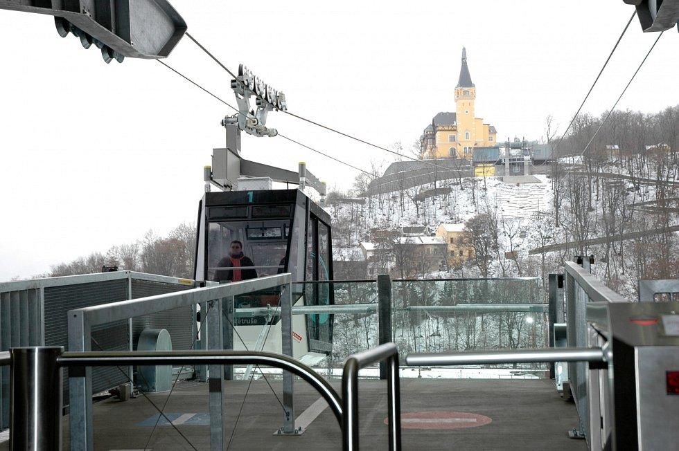 Lanovka na Větruši. Prosinec 2010