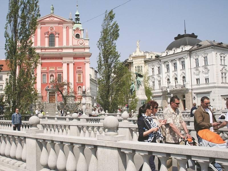 Lublaňské Trojmostí.