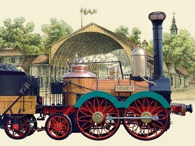 Historická lokomotiva.