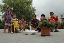 Zloději nechali dětem v Klokánku jen podstavec na slunečník a květináč.