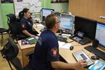 Operační středisko Městské policie Ústí nad Labem.