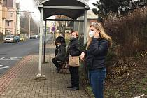Ústí nad Labem v respirátorech a rouškách. Čtvrtek 25. února 2021