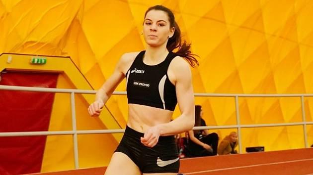 Atletka USK Provod Ústí nad Labem Nikola Bisová.