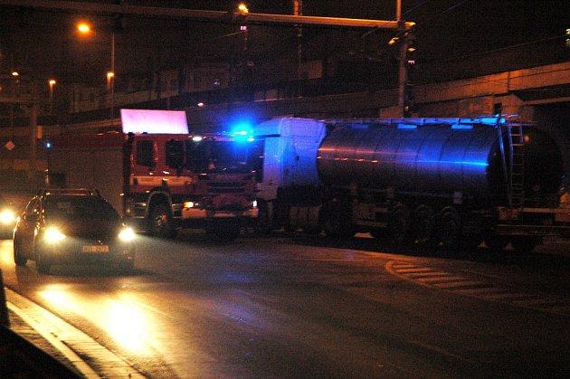 Nehoda v ulici Předmostí v Ústí.
