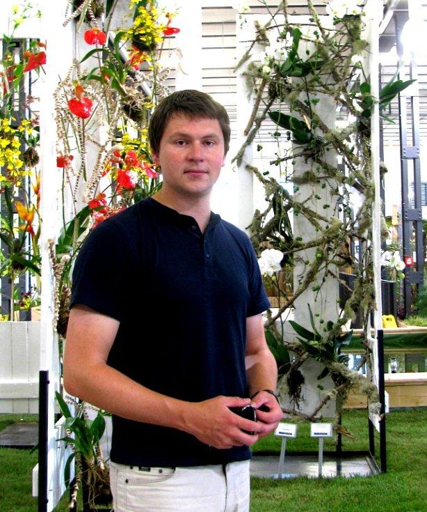 Manažer výstavy zahradnictví v Löbau.