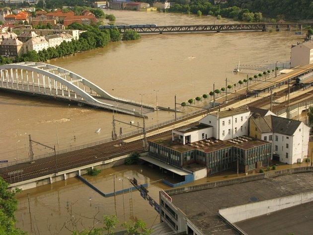Voda v centru města.