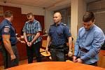 Tomáš Pavlis a Adam Kužel po vyhlášení rozsudku u ústeckého soudu