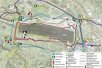 Trasy závodů budou o tomto víkendu kolem celého jezera. Návštěvníky čeká i řada atrakcí.