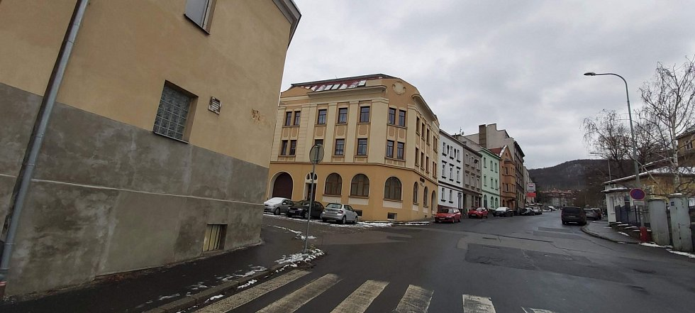 Obvod Střekov v Ústí nad Labem. Žukovova ulice