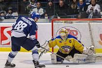 Ústečtí hokejisté (žlutí) prohráli na ledě Kladna 1:5.