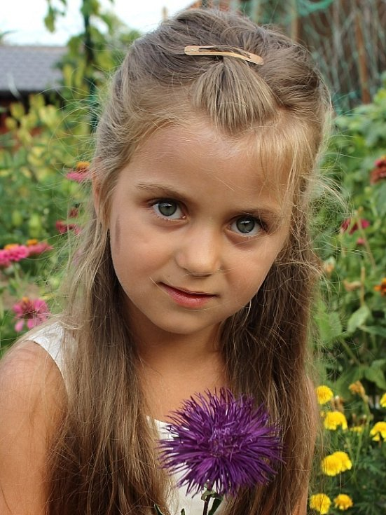 14. LAURA VANČOVÁ, 5 let, Ústí nad Labem.