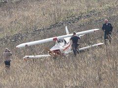 V Ústí nad Labem havaroval jednomístný ultralight. Pilot při havárii zemřel.