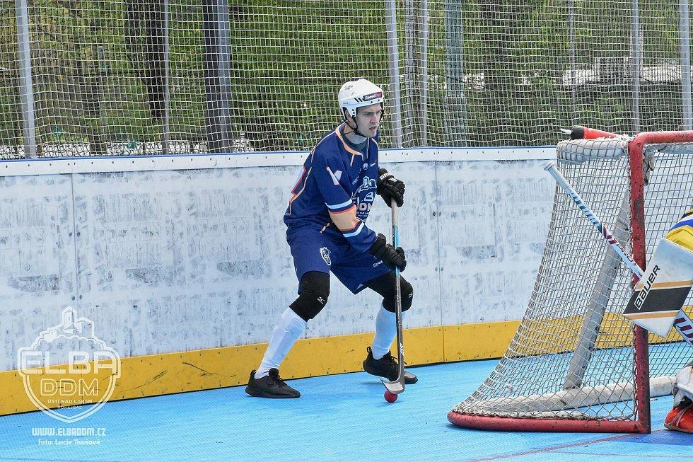 KOVO Praha - Elba DDM Ústí nad Labem, hokejbal extraliga 2020/2021. Martin Stupka