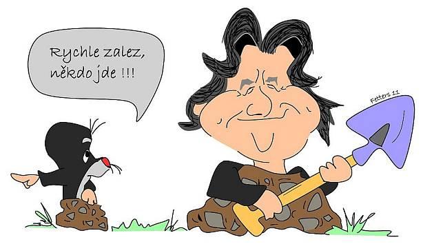 Mandíkova karikatura...