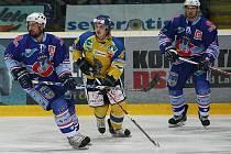 Z pátého finálového utkání 1. ligy mezi Ústeckými Lvy a Chomutovem.