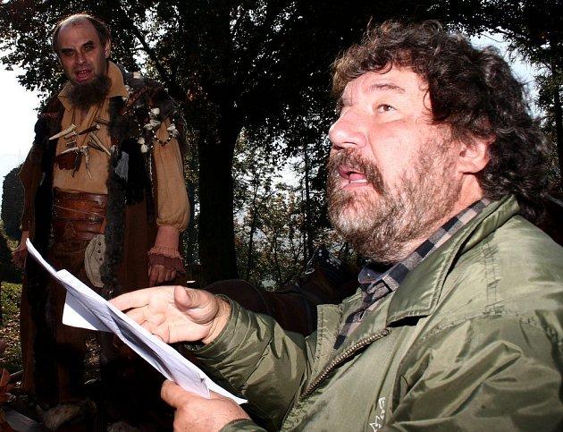 Zdeněk Troška při natáčení v Hostomicích