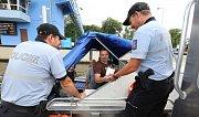 Policisté z Poříčního oddělení v Brné hlídkují mezi Ústím a Roudnicí nad Labem