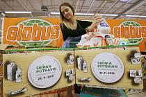 Potravinová sbírka proběhla v sobotu v Ústí nad Labem v nákupním centru Globus.