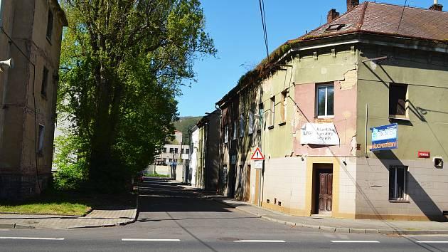 Matiční ulice v Ústí nad Labem.
