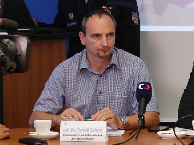 Tomáš Kohout, vedoucí 2.oddělení odboru obecné kriminality vÚstí nad Labem.
