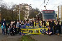 Tramvají na Slovan.