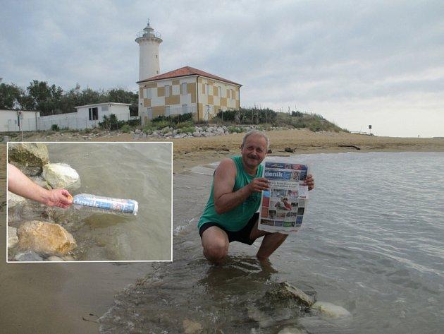 """""""Co nám dnes to moře přineslo?"""" ptal se Vašek na dovolené vitalském Bibione. """"No super, Litoměřický deník!"""""""