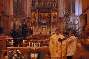 Půlnočí mše v kostele Nanebevzetí Panny Marie.