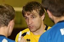 Hrající trenér ústeckých volejbalistů Milan Bican.